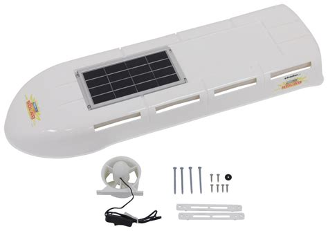 built in vent camco rv refrigerator vent system w solar panel and fan