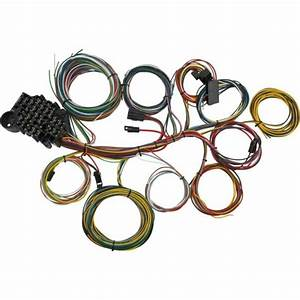 New 12v 8 Circuit Fuse Universal Wire Harness Muscle Car