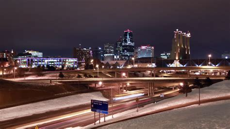 A Night Time View Of The Kansas City, Missouri Skyline