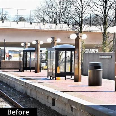 Station Wmata Metro Falls Church West Rail