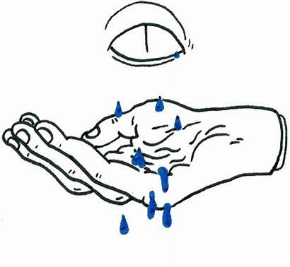 Hand Tears Gifs Transparent Animated Animation Cry
