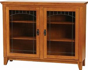 Mission Low Bookcase with doors