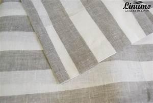 Vorhänge Grau Weiß : leinen gardine weiss natur gestreift 145x235cm m05c33215 leinenbettw sche linumo linumo ~ Orissabook.com Haus und Dekorationen