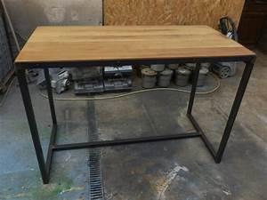 Table Mange Debout Style Industriel : meuble style industriel m tal bois fabrication sur mesure et sur commande ~ Melissatoandfro.com Idées de Décoration