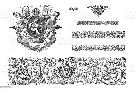We discuss various elements that constitute an make up interior designs from the victorian era. Victorian Design Elements Stock Illustration - Download ...