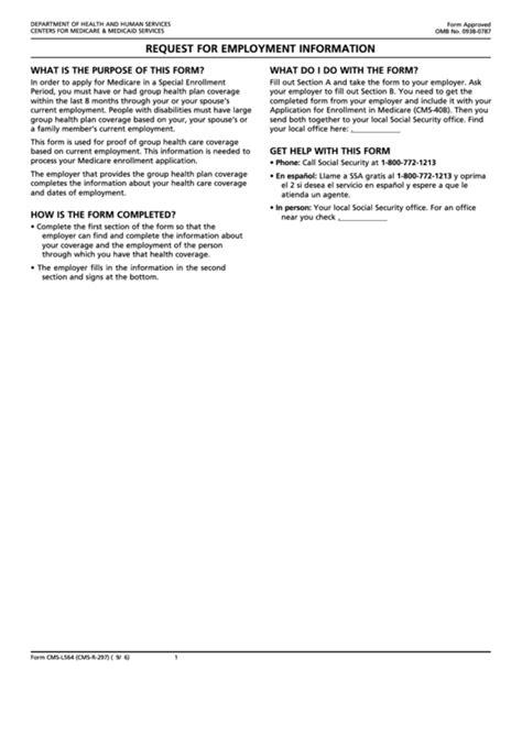 fillable medicare form request  employment