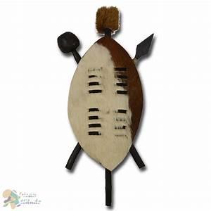 """Wall decoration """"Zulu-shield"""", 35 cm - African Attitude"""