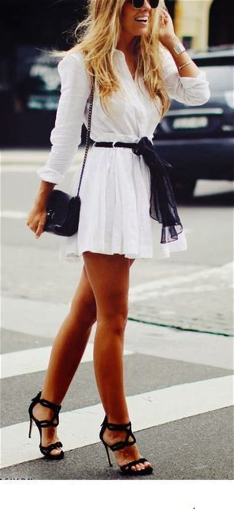cute white dress  high heels pictures