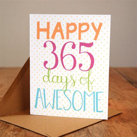 Awesome Happy Anniversary by Happy 365 Days Of Awesome Anniversary Card