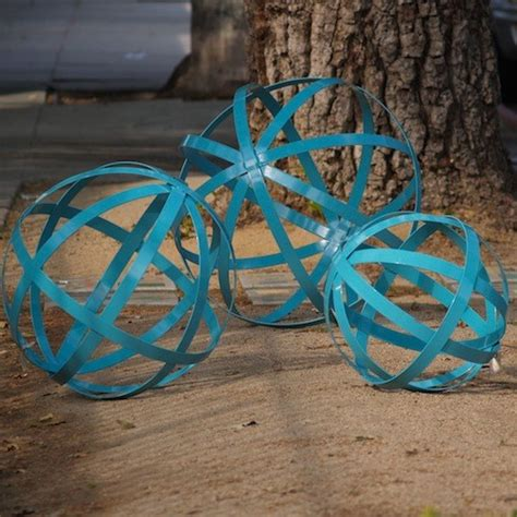 powder coated iron spheres contemporary outdoor decor