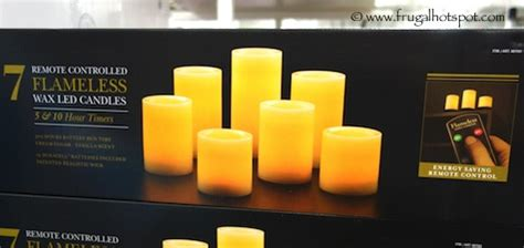 Costo Candele by Costco Clearance 7 Remote Controlled Flameless Wax Led