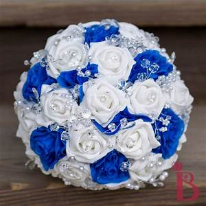 Royal Blue And Silver Wedding Bouquets | www.imgkid.com ...