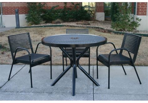 4 expanded metal canteen patio set commercial site