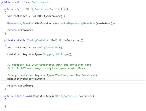 Configure Unity For Asp Mvc Running Codeproject