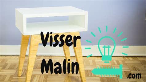 customiser un bureau en bois comment fabriquer une table de chevet scandinave ep13