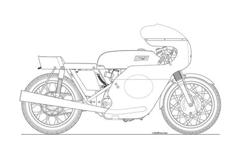 Some Classic Motorcycle Line Art Drawings