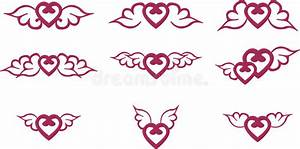 Flaming Wings Tribal Tattoo Stock Vector