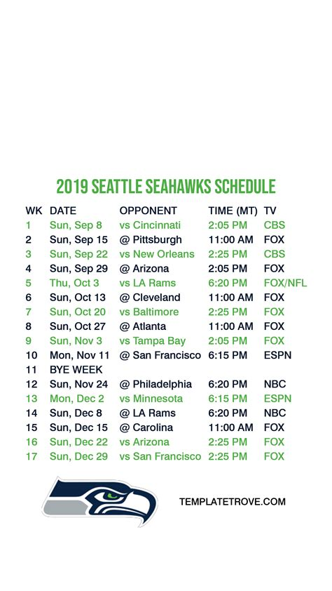 seattle seahawks lock screen schedule  iphone