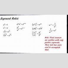 Simplifying Using Exponent Rules Youtube