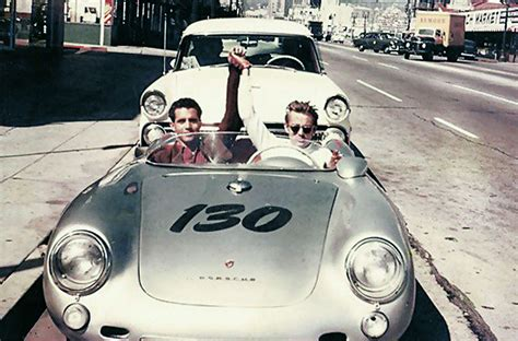 550 Spyder Dean by Dean And His Mechanic Rolf Weutherich Posing Inside