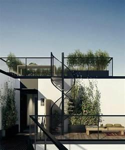 25 urban terrassengestaltung beispiele With markise balkon mit tapeten im biedermeierstil