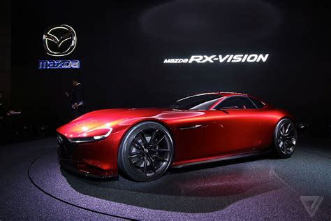 mazda s gorgeous rx vision concept revives the rotary engine the verge