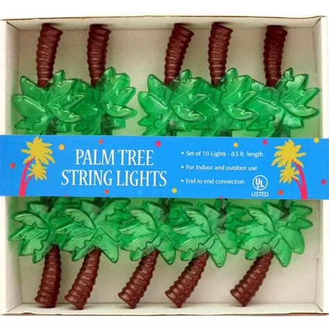 palm tree electric string lights hawaiian luau pink