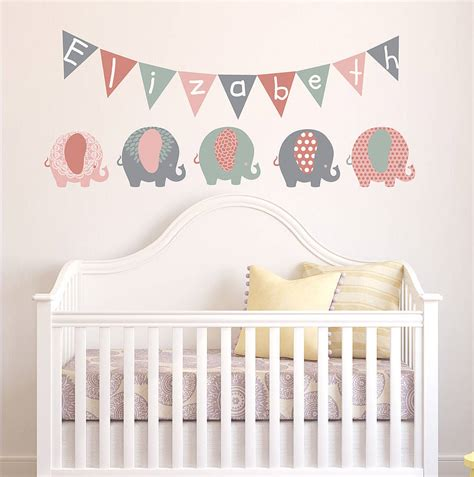 stickers chambre ado pastel elephant children 39 s wall stickers by parkins