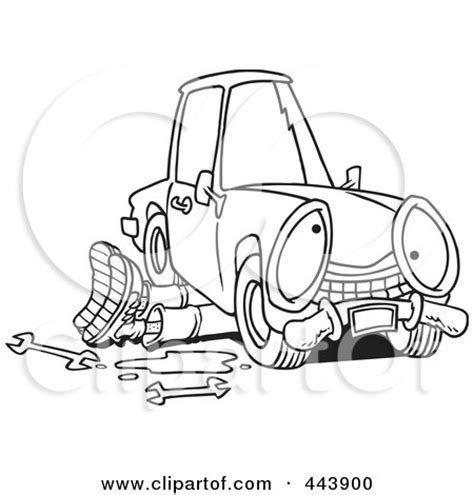 mechanic clipart black and white mechanic working on car clipart 69
