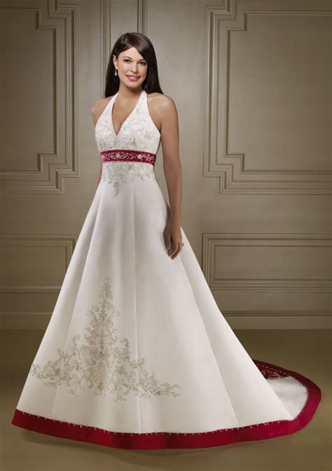 colored wedding dresses formal wedding dresses color accent wedding dress