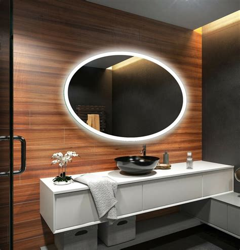 Bathroom Mirror Size by Led Illuminated Bathroom Mirror L74 To Measure Custom Size