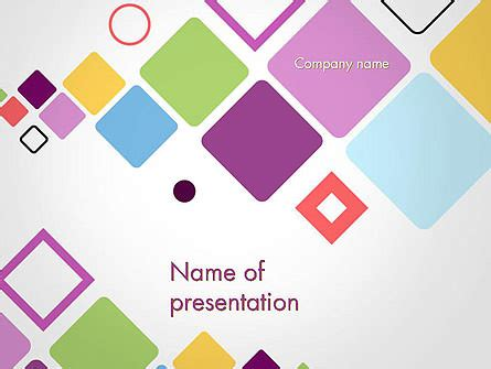 flying square shapes abstract powerpoint template