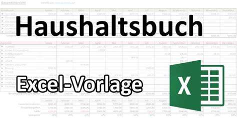 haushaltsbuch excel vorlage techwirtnet