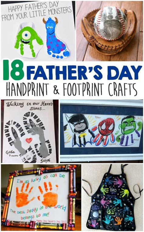 fathers day handprint  footprint crafts  kids