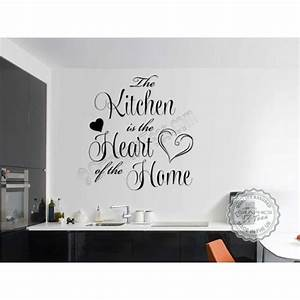 kitchen is the heart of the home design decoration With best brand of paint for kitchen cabinets with family quote wall art