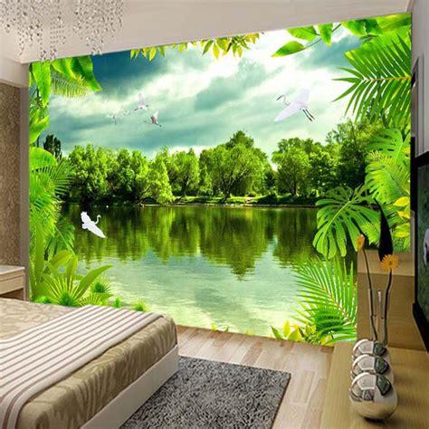 custom  photo wallpaper tropical rain forest green
