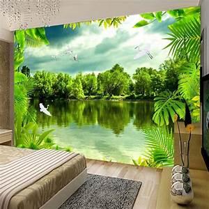 Custom 3D Photo Wallpaper Tropical Rain Forest Green ...
