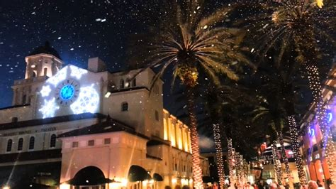 cityplace christmas snow west palm beach parks