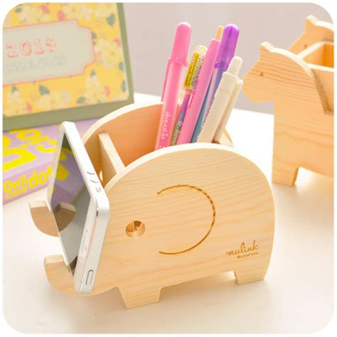 cute pen holder for desk aliexpress com buy animal cute wood pencil holder for