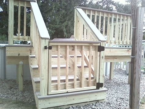 outdoor gate for deck stairs deck gates ideas pressure treated wood decking with 7227