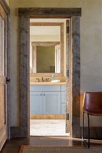 llano ranch rustic bathroom austin by cornerstone With barn wood trim ideas