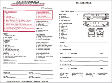 bureau inspection automobile vehicle inspection sheet sle search results