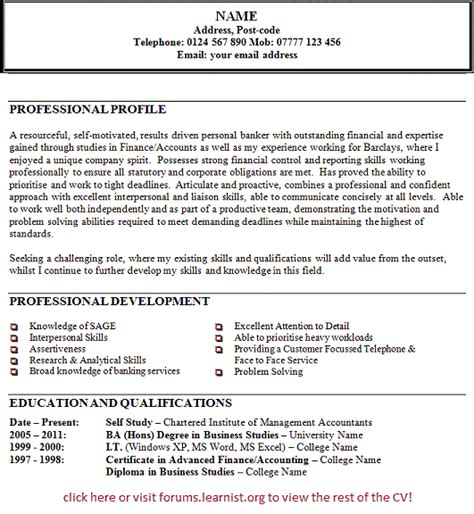 Resume Personal Statement by Resume Exles This Is Appropriate Resume Personal