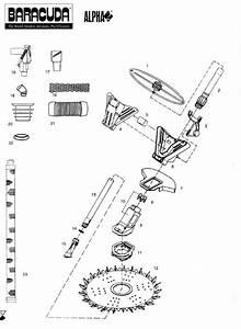 Baracuda Alpha 2  Replacement Parts Diagram