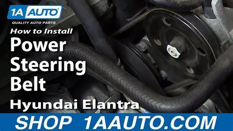 replace power steering belt   hyundai elantra