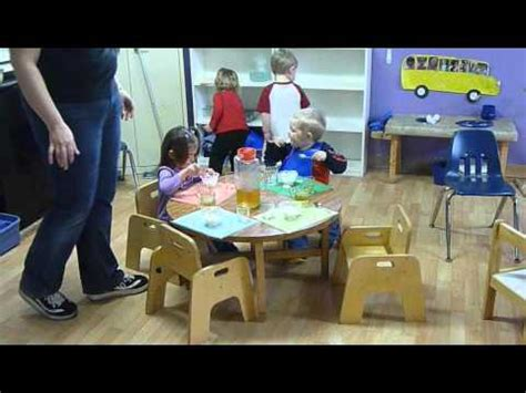 montessori snack time  table setting youtube