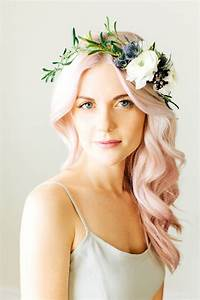 Floral Crown Soft Pink Hair Glitter IncGlitter Inc