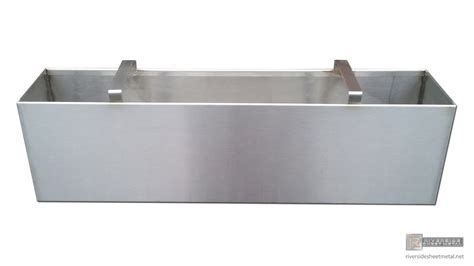 Stainless steel number 4 finish planter with handles