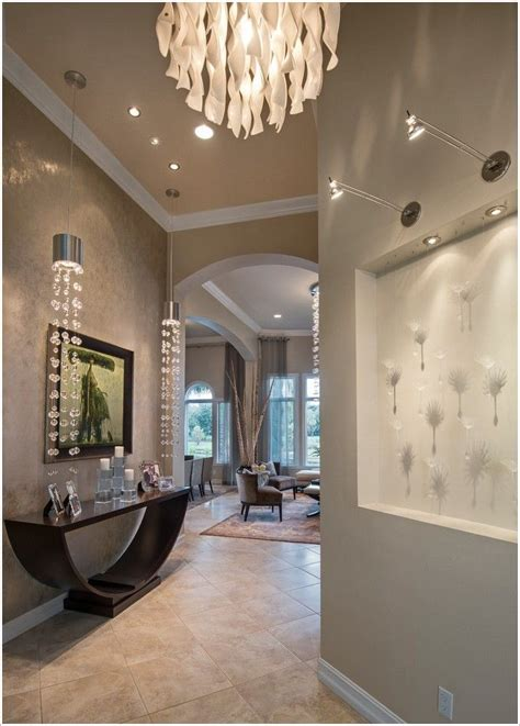 contemporary art niche lighting pendant lights entry