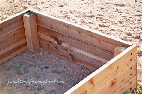 easy diy raised garden bed boxes ponderings from